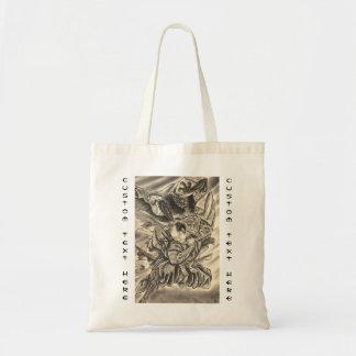 Tatuaje japonés de la lucha del samurai del demoni bolsa tela barata