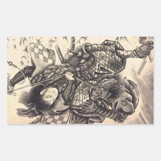 Tatuaje japonés de la tinta del demonio del rectangular altavoz