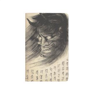 Tatuaje japonés de la tinta del demonio del vintag cuadernos grapados