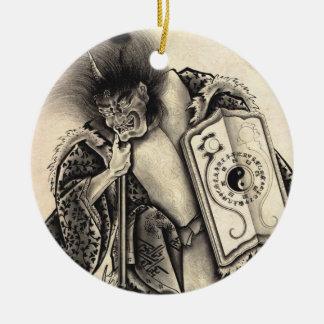 Tatuaje japonés de la tinta del demonio del vintag ornamentos para reyes magos