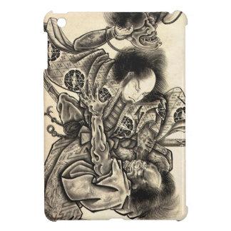 Tatuaje japonés de la tinta del demonio del vintag iPad mini fundas