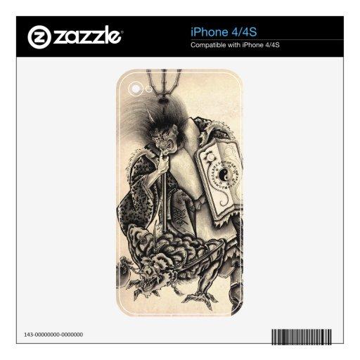 Tatuaje japonés de la tinta del demonio del vintag iPhone 4S skin