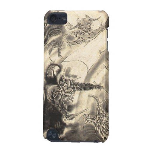 Tatuaje japonés del dragón del demonio del vintage funda para iPod touch 5G