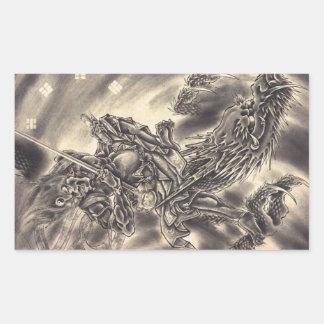 Tatuaje japonés del dragón del demonio del vintage rectangular altavoz