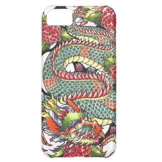 Tatuaje japonés oriental del dragón del vintage cl funda para iPhone 5C