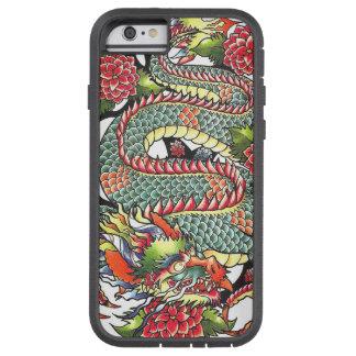 Tatuaje japonés oriental del dragón del vintage funda de iPhone 6 tough xtreme