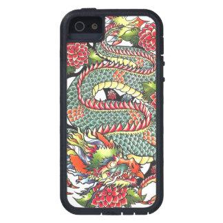 Tatuaje japonés oriental del dragón del vintage iPhone 5 fundas
