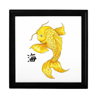 Tatuaje japonés oriental fresco de la carpa de los caja de regalo