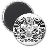 Tatuaje maorí - blanco y negro imán para frigorifico