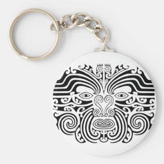 Tatuaje maorí - blanco y negro llavero