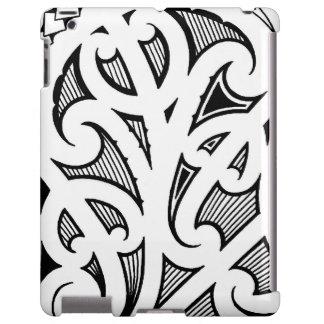 Tatuaje maorí del koru/del helecho funda para iPad