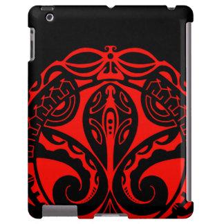 Tatuaje maorí del tiki con diseño tribal del funda para iPad