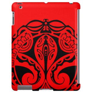 Tatuaje maorí del tiki con diseño tribal del gekko funda para iPad