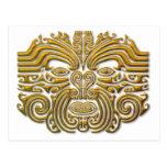 Tatuaje maorí - oro postales