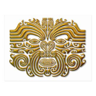 Tatuaje maorí - oro tarjetas postales