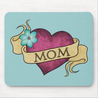 Tatuaje Mousepad del corazón de la mamá