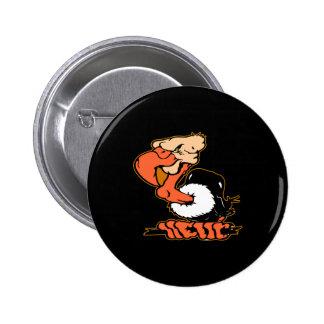 Tatuaje negro del dibujo animado del halcón pins