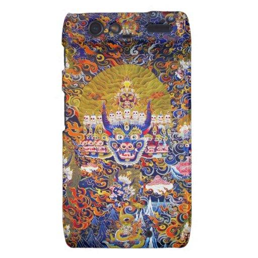 Tatuaje oriental fresco de dios de la muerte de Ya Droid RAZR Carcasas