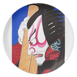 Tatuaje oriental fresco de Kagekiyo del japonés Plato Para Fiesta