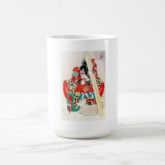 Tatuaje oriental fresco de Kagekiyo del japonés Taza Básica Blanca