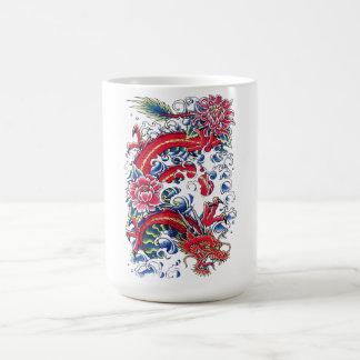 Tatuaje oriental fresco de la flor de Lotus del Taza De Café