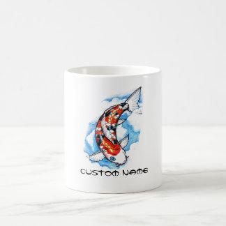 Tatuaje oriental fresco de la nube de la carpa de  tazas de café