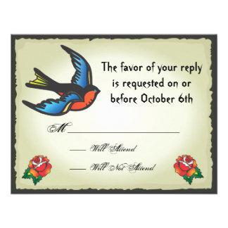 Tatuaje que casa la tarjeta de RSVP Anuncio