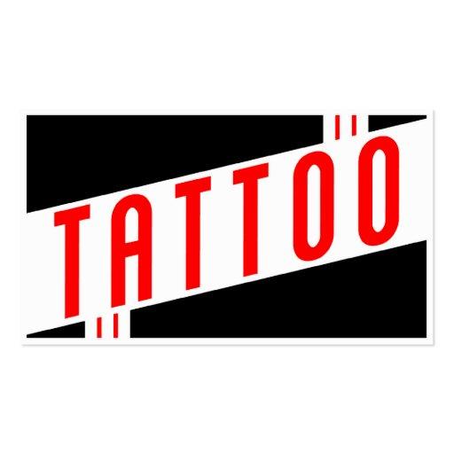 tatuaje retro tarjetas de visita