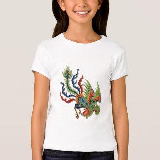 Tatuaje rico chino del pavo real polera