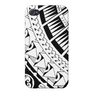Tatuaje samoano de la punta de lanza por la tormen iPhone 4/4S carcasa