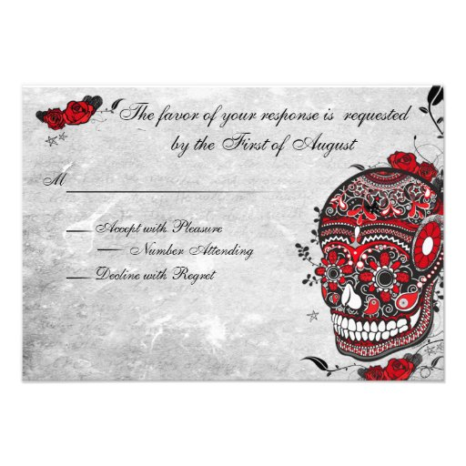 Tatuaje subió y tarjeta de la recepción del cráneo comunicado personal