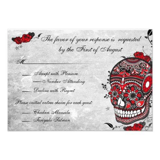 Tatuaje subió y tarjeta de la recepción del cráneo comunicados personales