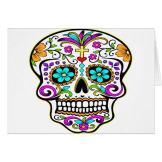 Tatuaje tatuado del cráneo tarjeta de felicitación