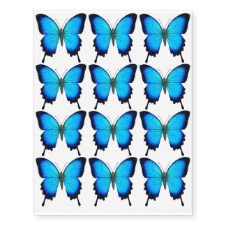 Tatuaje temporal de la mariposa azul de Papilio Tatuajes Temporales