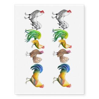 Tatuaje temporal del pollo de lujo colorido de los tatuajes temporales