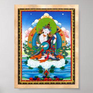 Tatuaje tibetano oriental fresco Saraswati del tha Póster