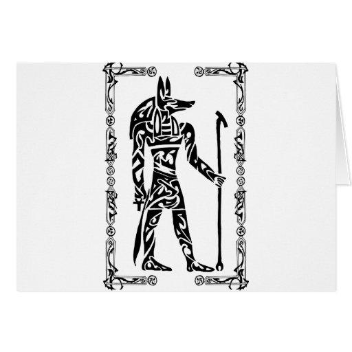 Tatuaje tribal Anubis Tarjetón