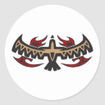 Tatuaje tribal de Eagle del halcón Pegatinas Redondas