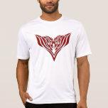 Tatuaje tribal de Eagle - rojo y negro Camiseta