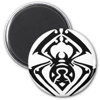 Tatuaje tribal de la araña imán redondo 5 cm