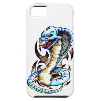 Tatuaje tribal de la cobra real iPhone 5 carcasas