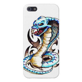 Tatuaje tribal de la cobra real iPhone 5 funda