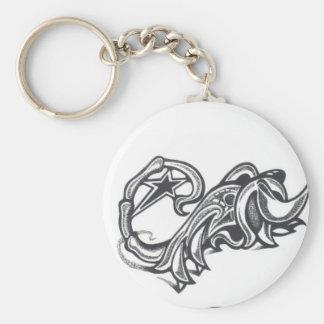 tatuaje tribal de la estrella del escorpión animal llavero redondo tipo pin