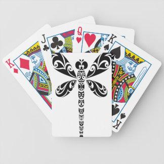 Tatuaje tribal de la libélula baraja cartas de poker