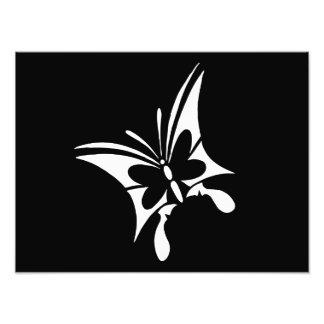 Tatuaje tribal de la mariposa fotografía