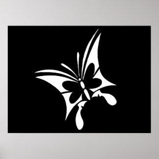 Tatuaje tribal de la mariposa posters