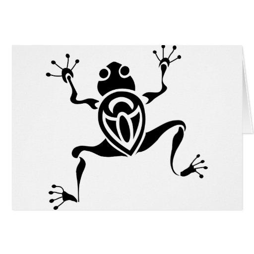 Tatuaje tribal de la rana felicitación