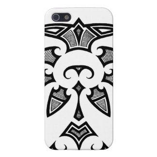 Tatuaje tribal de Mauri con los modelos del koru iPhone 5 Carcasas