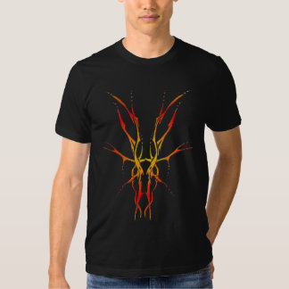 Tatuaje tribal del cráneo de los ciervos - llama playera