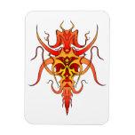 Tatuaje tribal del demonio - rojo y amarillo iman